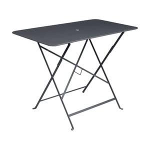 Antracitově šedý zahradní stolek Fermob Bistro, 97 x 57 cm