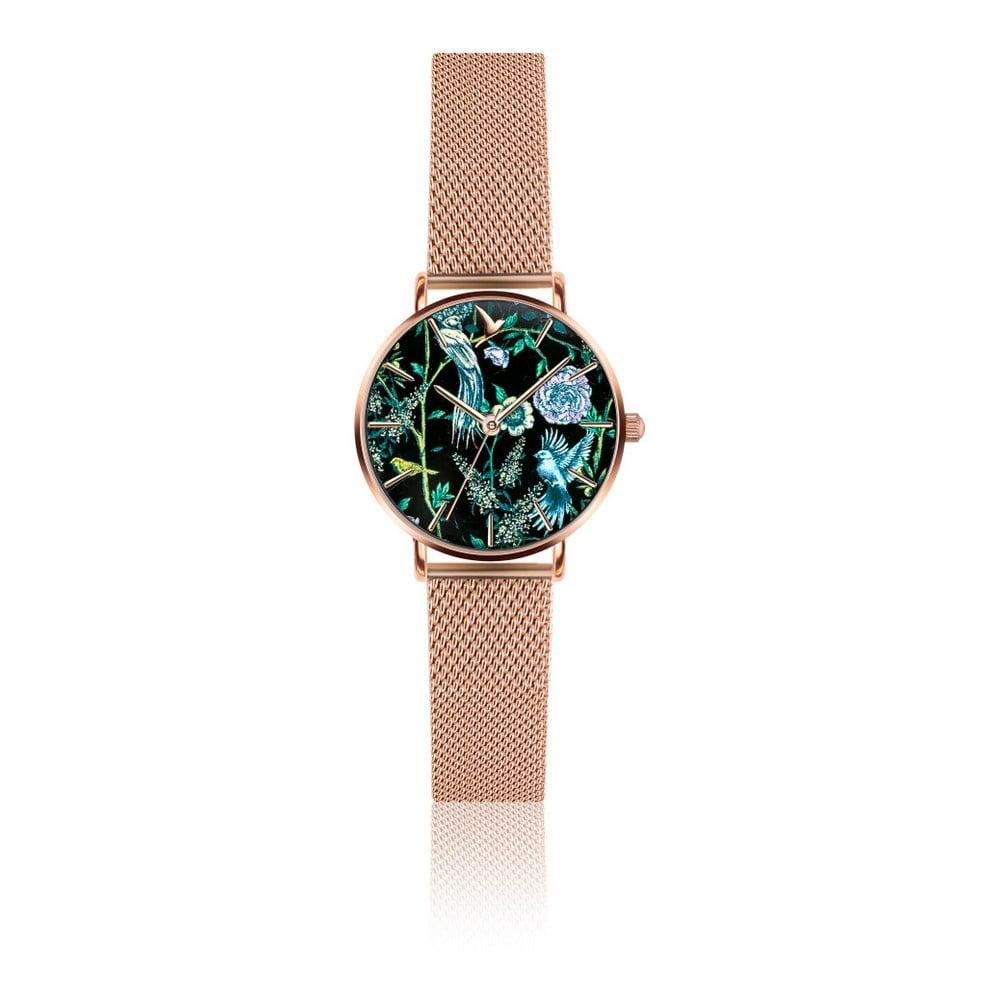 Dámské hodinky s růžovým páskem z nerezové oceli Emily Westwood Sensation