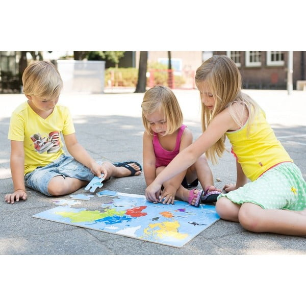 Puzzle s mapou světa World