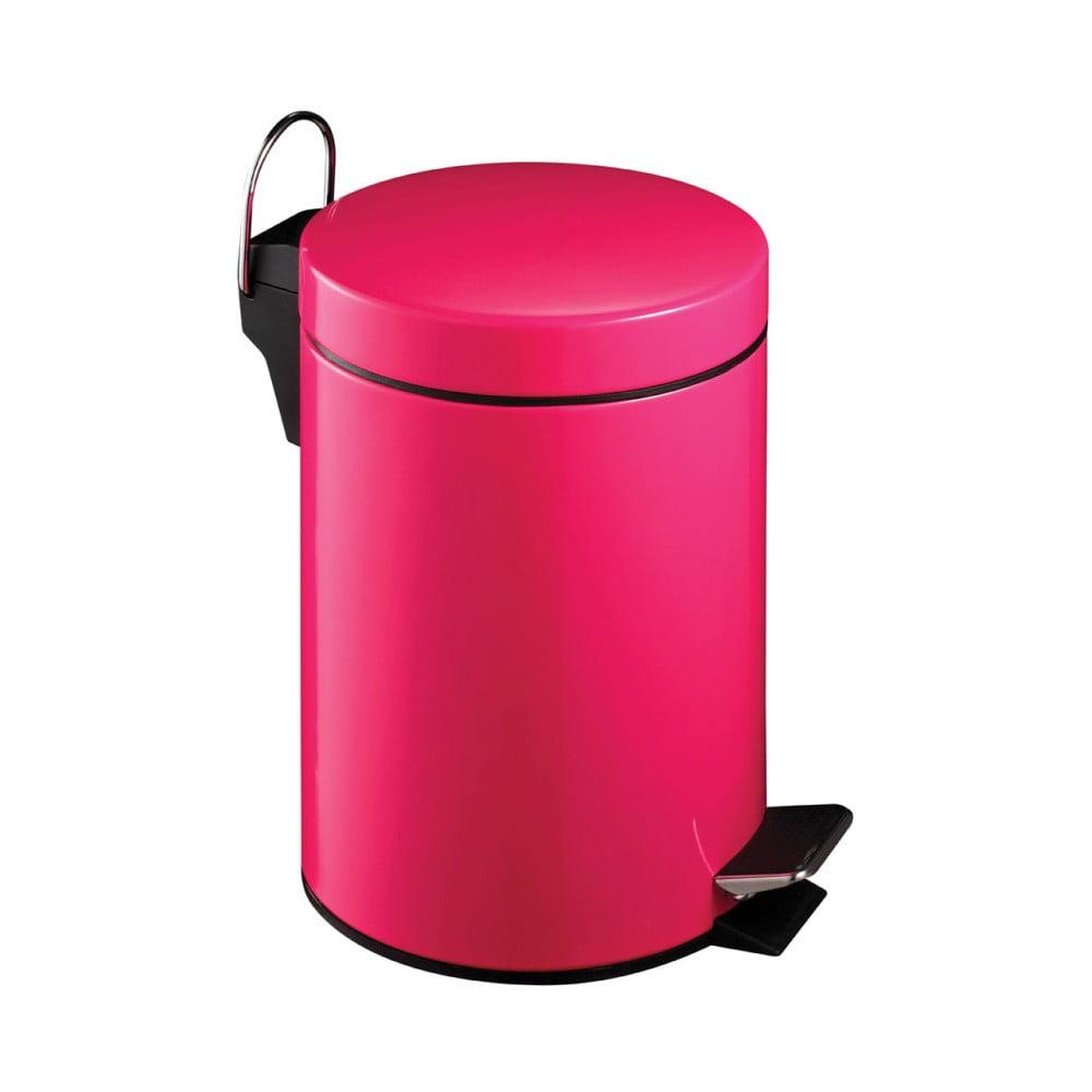 Růžový pedálový koš Premier Housewares, 3 l