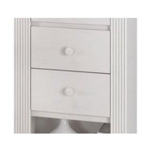 Set 2 sertare pentru dulapul din lemn de pin Støraa Bailey, alb