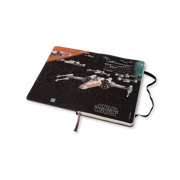 Týdenní diář Moleskine Stars Wars, 13x21 cm