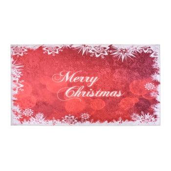 Covor Vitaus Merry Christmas, 50 x 80 cm, alb-roșu de la Vitaus