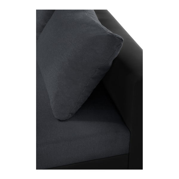 Černo-antracitová sedačka Interieur De Famille Paris Aventure, pravý roh