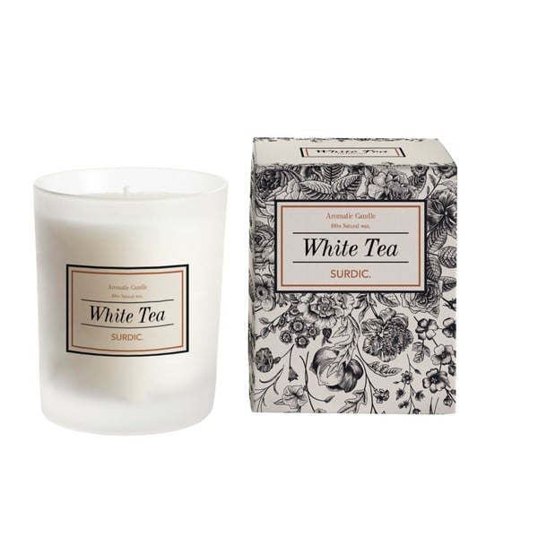 Aromatická sviečka s vôňou bieleho čaju Surdic White Tea, doba horenia 50 hodín
