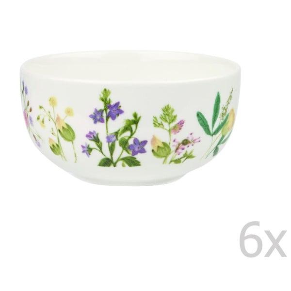 Sada 6 misek Churchill China Himalyan Flowers, 13 cm