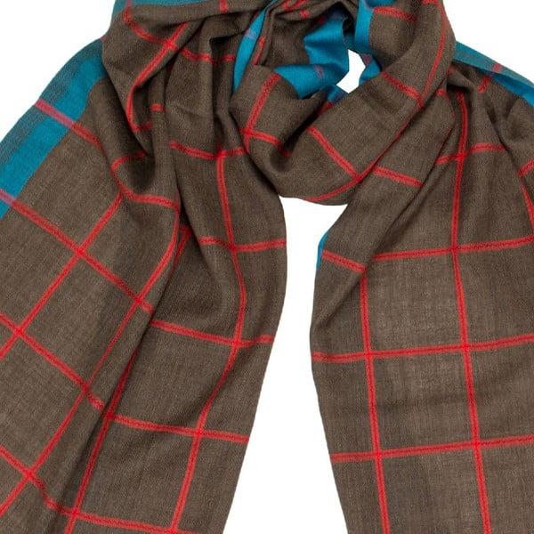 Šátek s příměsí hedvábí Shirin Sehan Fana Choco
