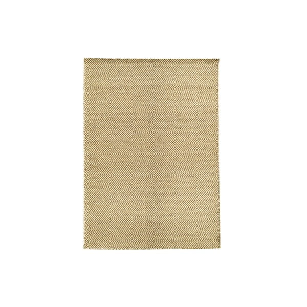 Ručně tkaný koberec Brown Zigzag Kilim, 107x158 cm