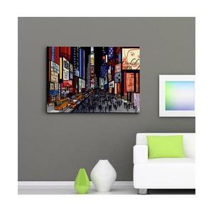 Obraz na plátně Noční Time Square, 50x70 cm