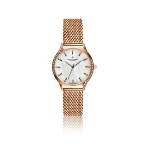 Dámské hodinky s páskem z nerezové oceli v růžovozlaté barvě Frederic Graff Clariden