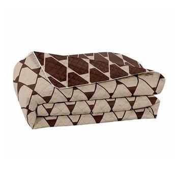 Cuvertură reversibilă din microfibră DecoKing Hypnosis Rhombuses, 220 x 240 cm, maro – bej de la DecoKing