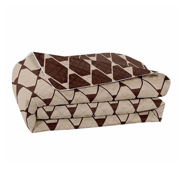 Hypnosis Rhombuses barna-bézs kétoldalas mikroszálas ágytakaró, 220 x 240 cm - DecoKing
