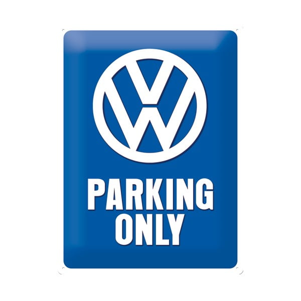 Retro plechová cedule Parking Only, 30x40 cm