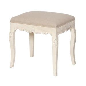 Krémová čalouněná stolička z topolového dřeva Livin Hill Rimini