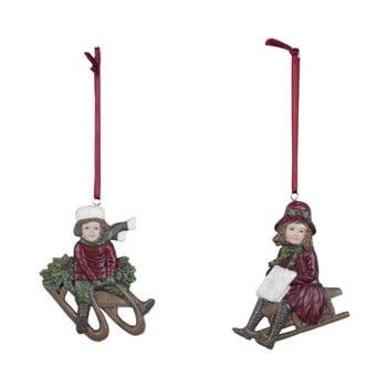 Set 2 decorațiuni suspendate de Crăciun Ego Dekor Festive Sledge imagine