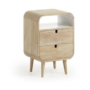 Noční stolek z mangového dřeva s 2 zásuvkami La Forma Gerald, 40x30cm