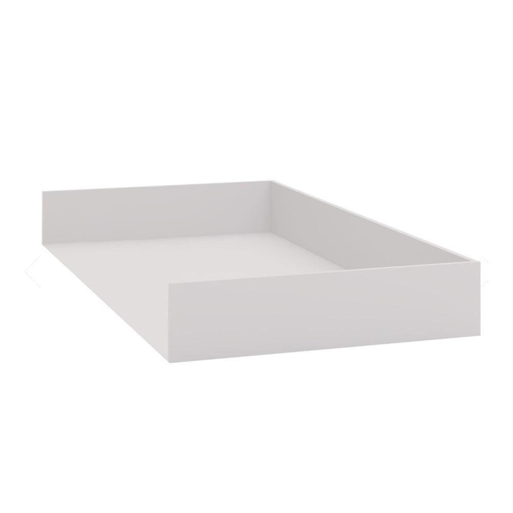 Bílá přídavná zásuvka pod jednolůžkovou postel Vox Evolve