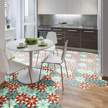 Set 10 autocolante pentru podea Ambiance Hexagons Lili 20 x 18 cm