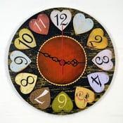 Nástěnné hodiny Hearts, 30 cm