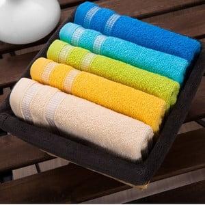 Sada 5 ručníků  Smoked Basket, 30x50 cm