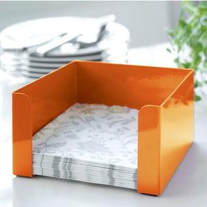 Oranžový box na ubrousky Steel Function
