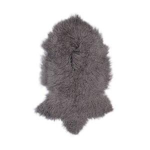 Tmavě šedá ovčí kožešina s dlouhým chlupem Arctic Fur Hyggur, 85x50cm
