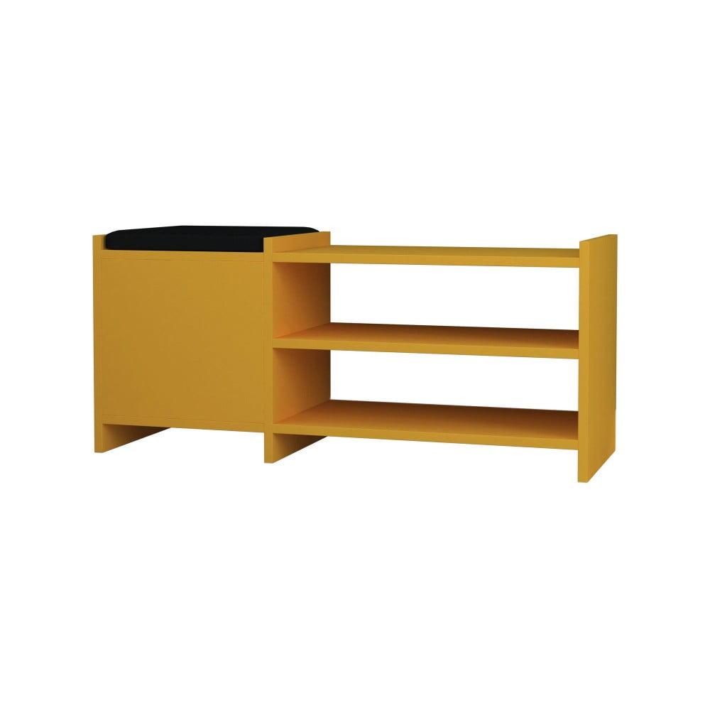 Hořčicově žlutý botník / lavice Homitis Sunno