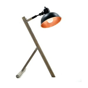 Stolní lampa se základnou z březového dřeva InArt Steffi