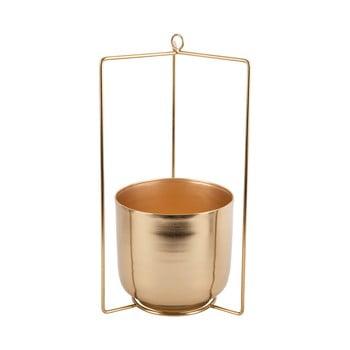 Ghiveci suspendat din metal PT LIVING Spatial, înălțime 36cm, auriu