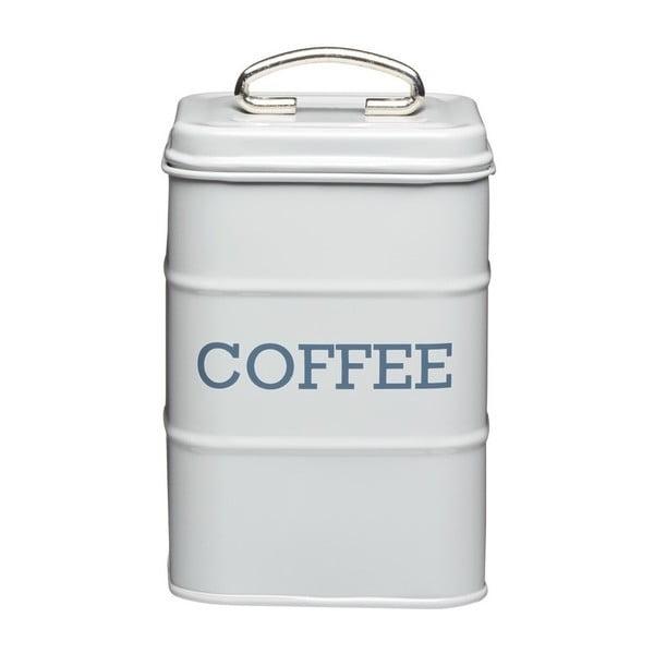 Šedá plechová dóza na kávu Kitchen Craft Nostalgia, výška 17 cm