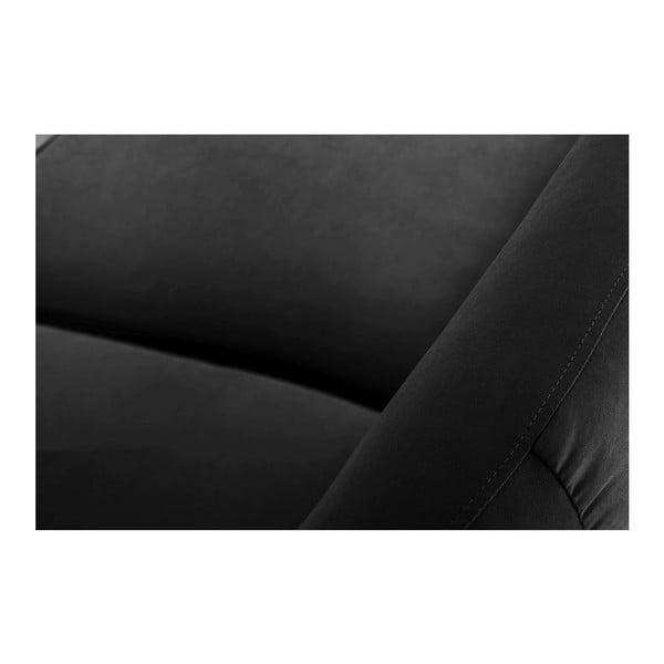 Pohovka Stella Black s lenoškou na levé straně