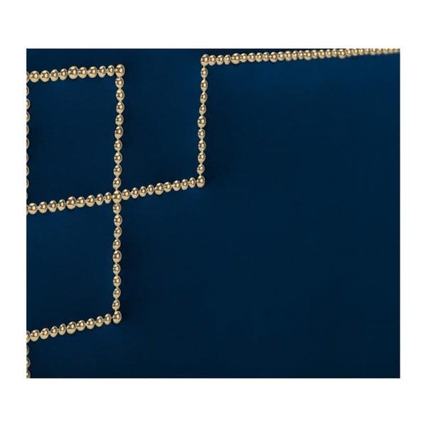 Tmavě modré čelo postele THE CLASSIC LIVING Nicolas, 120 x 160 cm