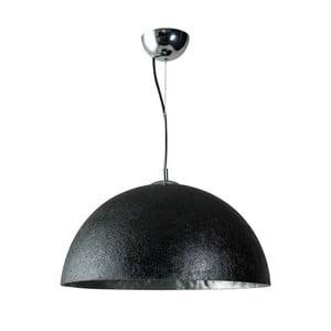 Černostříbrné stropní svítidlo ETH Mezzo Tondo, ⌀50cm