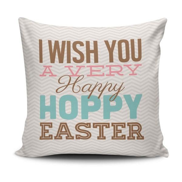 Povlak na polštář Happy Easter, 45 x 45 cm