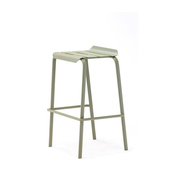 Set 4 scaune de bar pentru grădină Ezeis Alicante, verde măsliniu