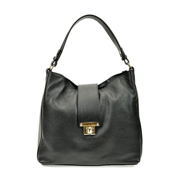 Černá kožená kabelka Roberta M Bria