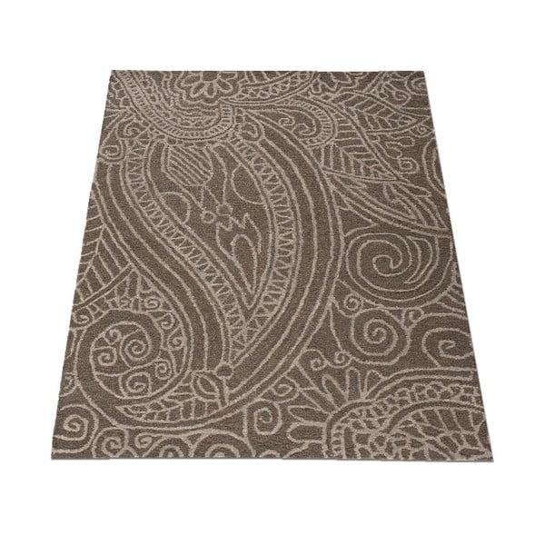 Vlněný koberec Mendhi 120x170 cm, šedý