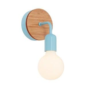 Světle modré nástěnné světlo s dřevěným detailem Homemania Valetta