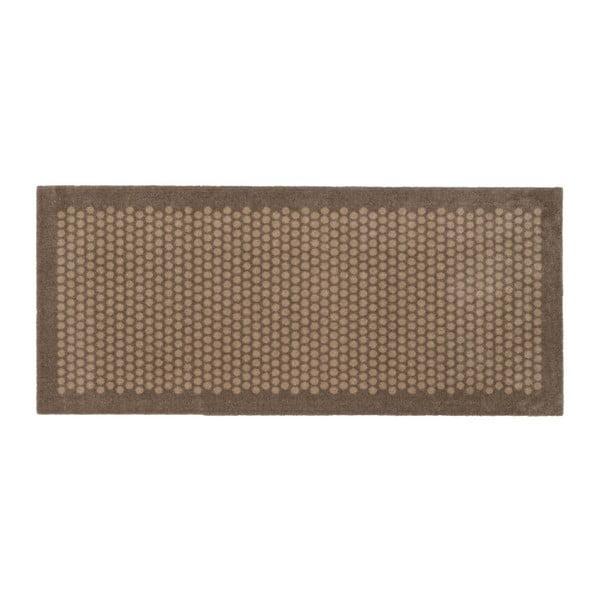 Hnědobéžová rohožka tica copenhagen Dot, 67x150cm