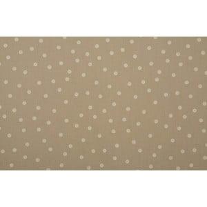 Záclona Confetti, béžová s bílými puntíky