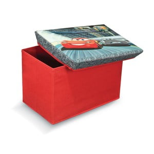 Taburet  cu spațiu depozitare Domopak Living Cars, lungime 49 cm, roșu