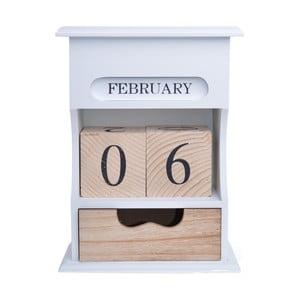 Dřevěný kalendař s úložným prostorem Ewax,16x21,5cm