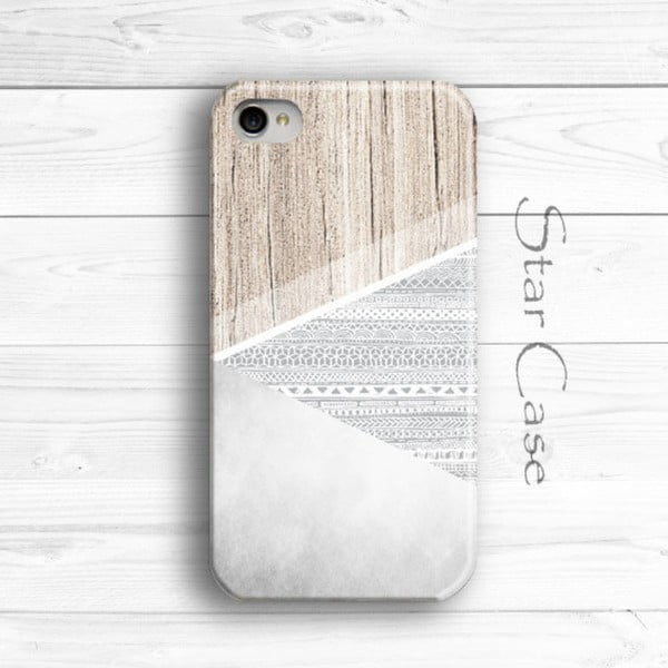Obal na iPhone 4/4S Wood Aztec Grey
