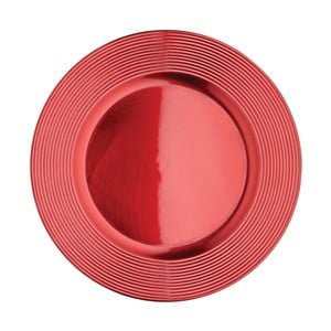 Červený talíř Kitchen Craft Robin