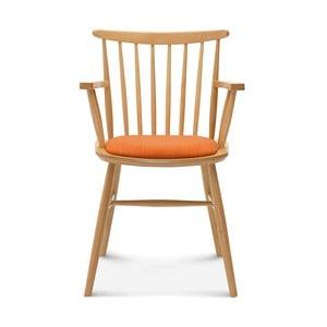 Scaun din lemn cu perne portocalii Fameg Asger