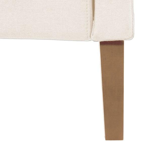Krémová postel s přírodními nohami Vivonita Windsor,160x200cm