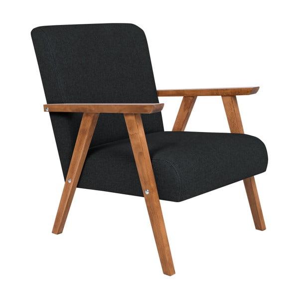 Terry fekete fotel - HARPER MAISON