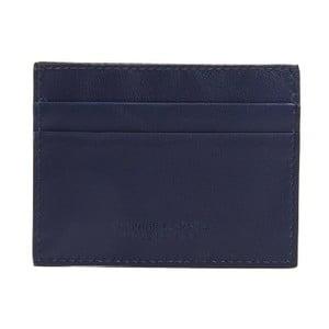 Tmavě modrá pánská kožená peněženka na bankovky a karty Billionaire, 8 x 10 cm