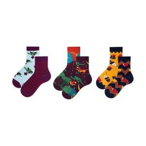 Sada 3 párů dětských ponožek v dárkovém balení Many Mornings Beetroots, vel. 27–30