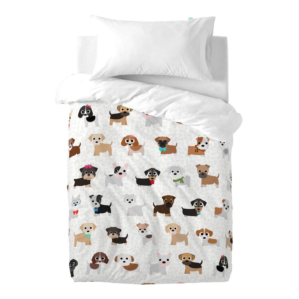 Dětské bavlněné povlečení na peřinu a polštář Mr. Fox Dogs, 100 x 120 cm